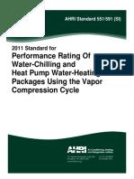 AHRI Standard 551-591 (SI)-2011