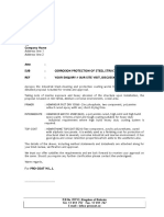 Method Statement for the Protective Coating - Corrosion Protection of Steel Structures General