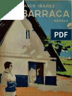 Nacimiento de la novela La Barraca de Vicente Blasco Ibáñez.es