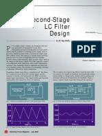 Second Stage Filter Design