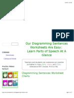 Diagramming Sentences Worksheet Printables