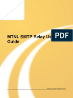 MTNL SMTP Relay User Guide