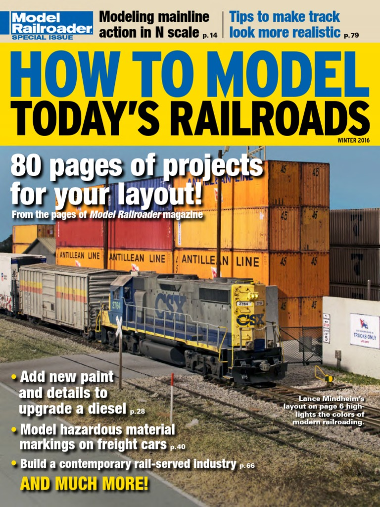 How To Model Todays Railroads