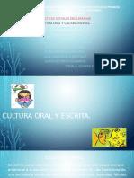 Cultura Oral y Escrita