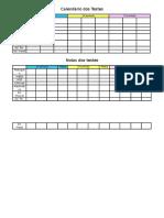 Calendário Dos Testes e de Notas