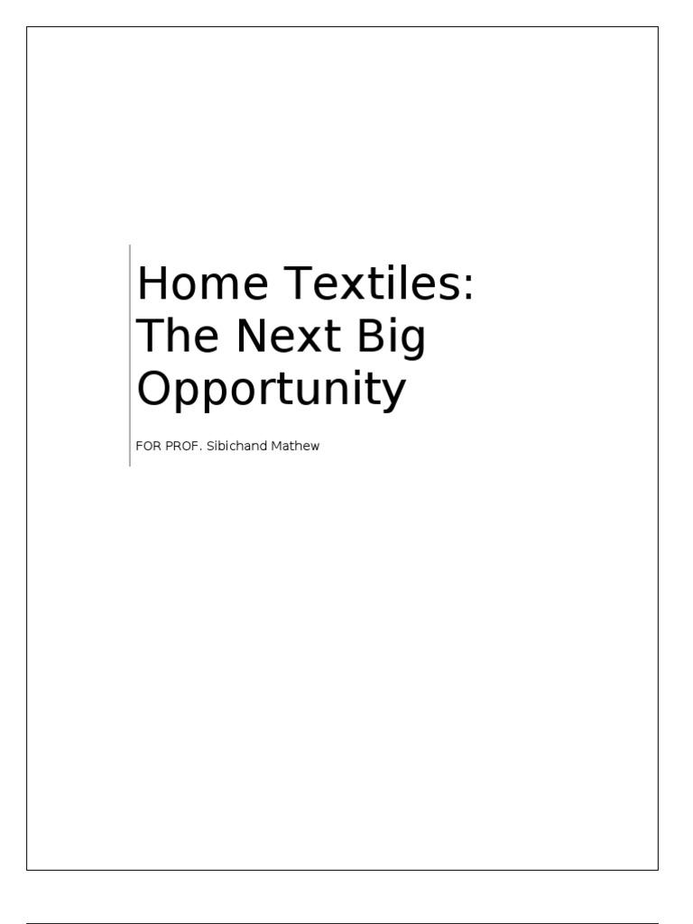 Home Textiles   Retail   Linens