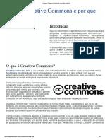 O Que é Creative Commons e Por Que Usá-la
