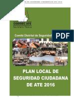 Plan Local de Seguridad Ciudadana 2016