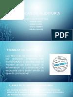 Técnicas de Auditoria Diapositivas