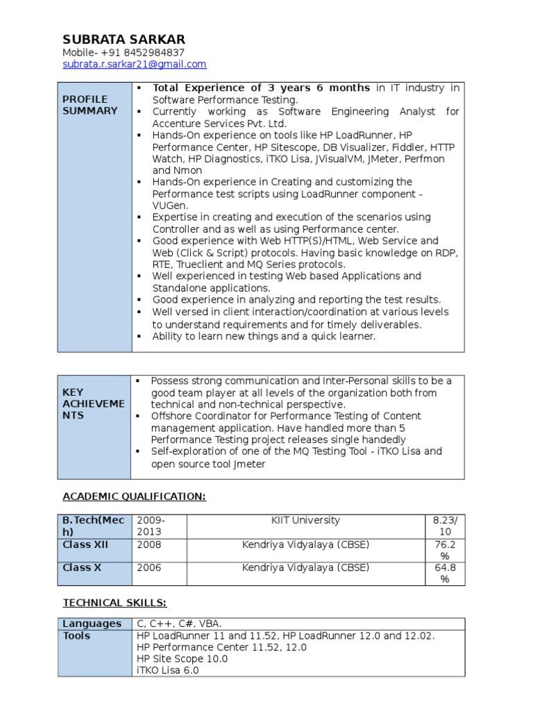 SUBRATA SARKAR Performance Tester | Scripting Language | World Wide Web