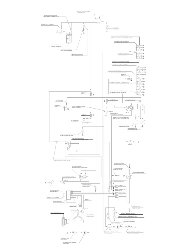 Piaggio BV250 Electrical Diagram USA