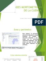 Propiedades Morfometricas de La Cuenca
