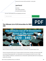 The Ultimate List of US Universities for GRE Scores 320 to 340 - CrunchPrep GRE