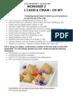 Art 313 - Worksheet 2 Cookies & Cake & Cream, Oh My!