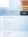 Distance v/s Full Time Learning
