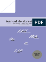 Manual de Abreviaturas HNHU