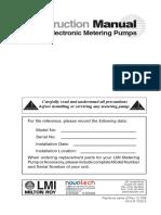 3. LMI Series AA-B-C-E-J-P Metering Pumps Manual