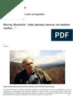 """Murray Bookchin_ """"Este Planeta Merece Um Destino Melhor…"""" _ Portal Anarquista"""