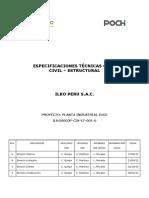 ILKO0003P CIV ET 001 0 Especificaciones Tecnicas