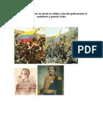 Collage de Imagenes de Donde Se Refleja y Describe Graficamente El Caudillismo y Guerras Civiles