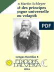 Johann Martin SCHLEYER. Exposé des principes de la langue universelle ou volapük
