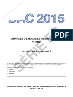 Bac 2015 Exercices