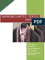 RAYMONDS Internship Final Report