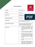 Job Description - PA Legal Secretary