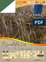 Programma 22esima Festa del Grano - Raddusa