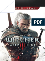 The Witcher 3 Wild Hunt Game Manual PC GB