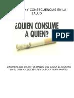 Partes del cuerpo afectadas por el cigarrillo