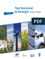 VII Plan Nacional de Energia 2015-2030