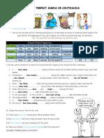 Present Perfect vs Present Perfect Continuous Worksheet