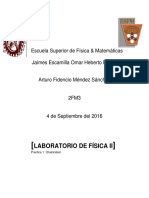 Practica I Física II Laboratorio