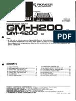 Pioneer GM-4200 ServiceManual