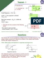 RC Circuits tutorial