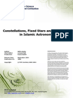 constellations ,fixed star and the zodiac in Islamic astronomy