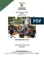 Vichadaordenanza Plan 2012-2015
