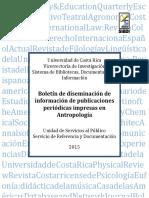 Boletin de Antropologia 2015