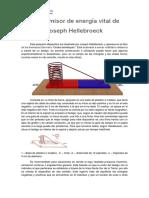 El Emisor de Energía Vital de Joseph Hellebroeck