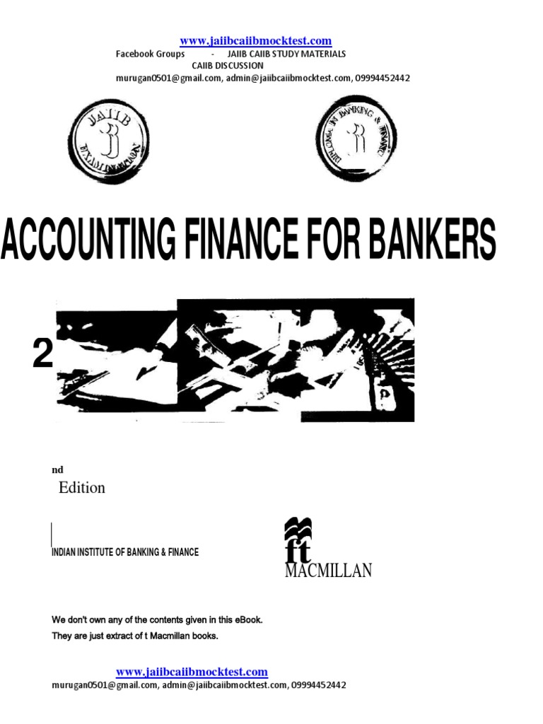 Ebook finance accounting bankers and for