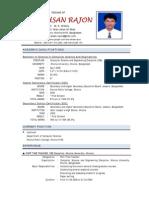 Resume of S. A. AHSAN RAJON