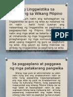 Sa pagpaplano at paggawa ng mga patakarang pangwika.pptx