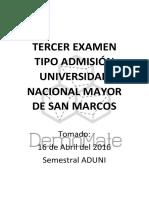 Semestral Aduni - Tercer Examen tipo admisión.pdf