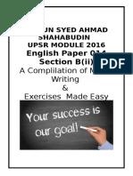 UPSR MODULE Based on Textbook 2016