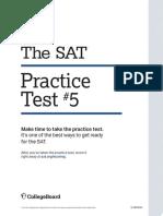Sat Practice Test 5