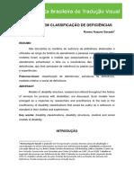 POR FALAR EM CLASSIFICAÇÃO DE DEFICIÊNCIASB