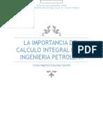 La Importancia Del Calculo Integral en La Ingenieria Petrolera