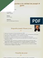 Aportes a la calidad de Joseph M Juran