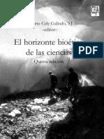 El Horizonte Bioético de Las Ciencias